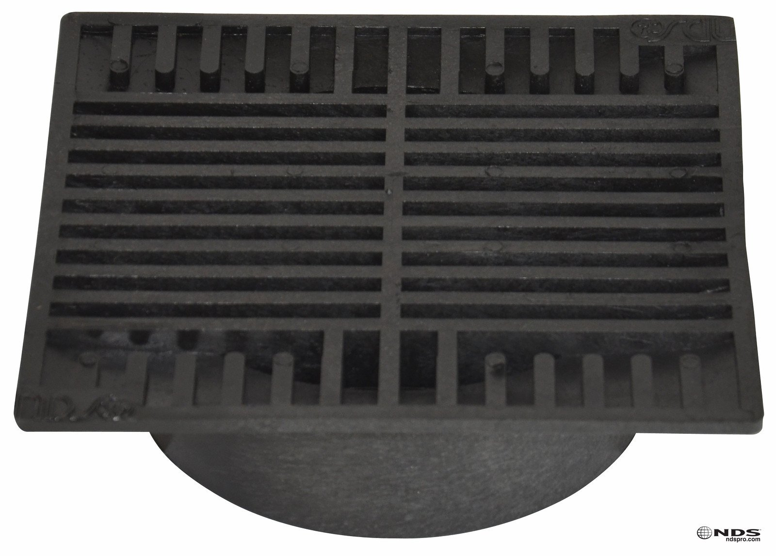 NDS 881 8'' Square Grate, Black