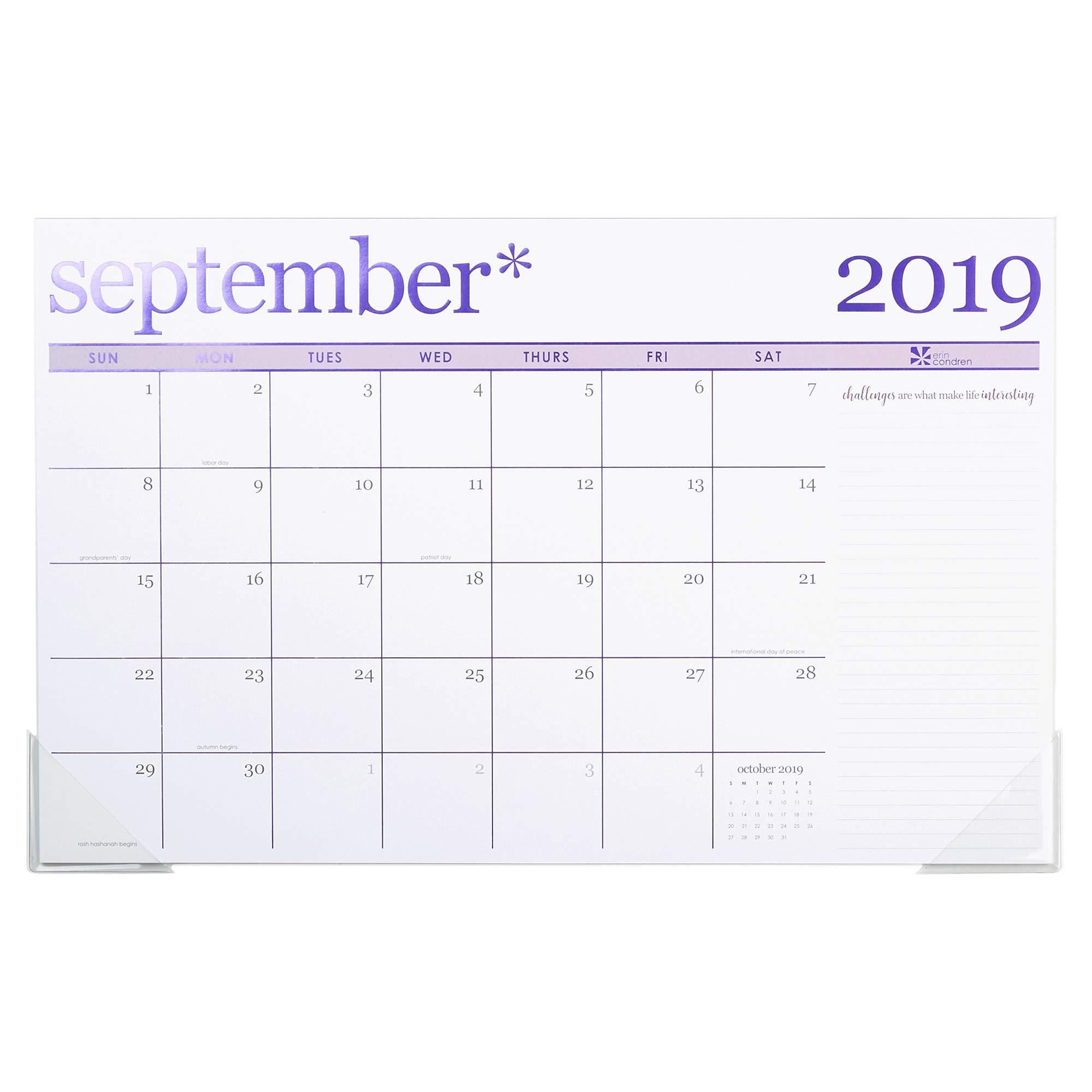 Erin Condren 2019-2020 Metallic Monthly Deskpad 11'' x 17'' (August 2019 - December 2020) by Erin Condren
