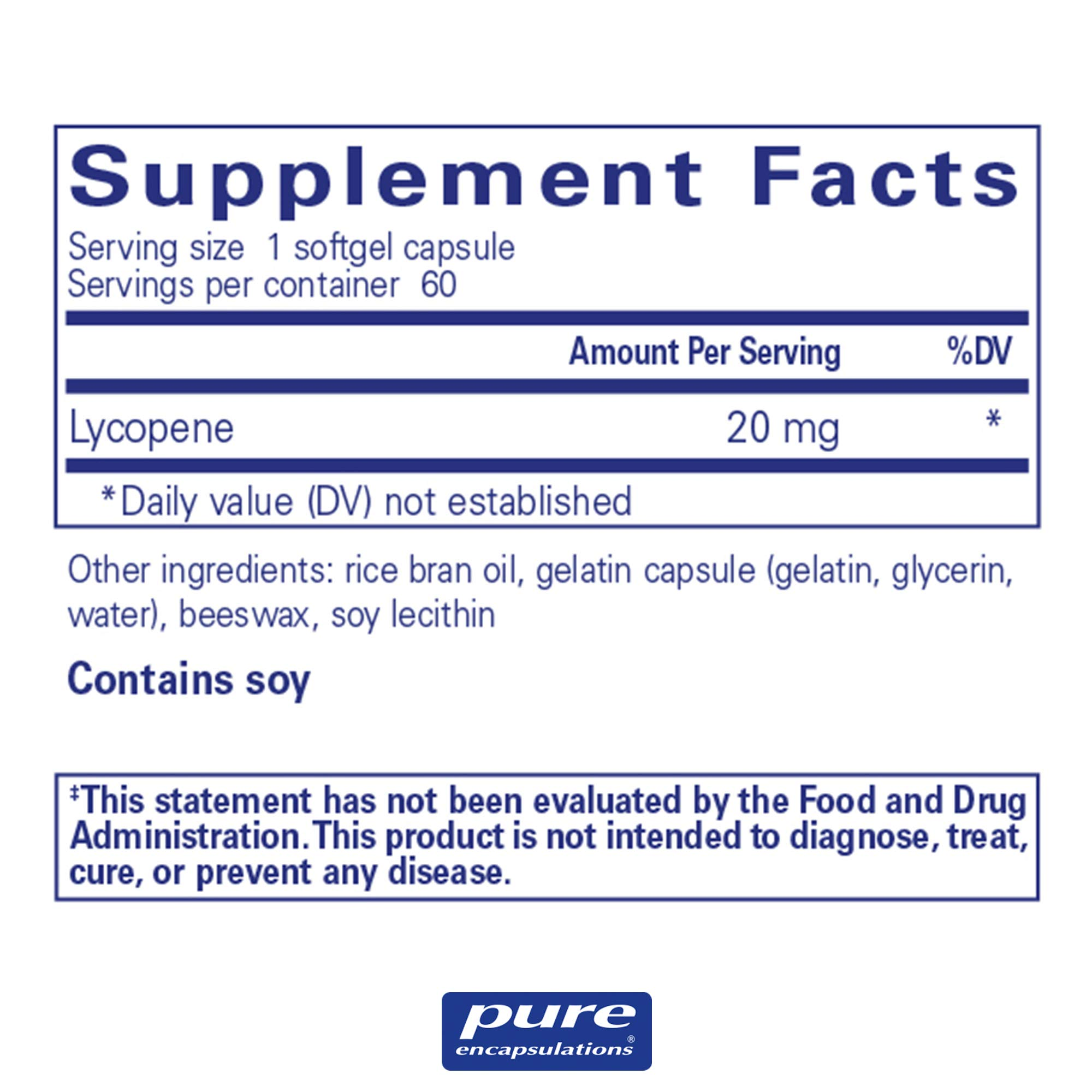 Pure Encapsulations - Lycopene 20 mg - Dietary Supplement for Prostate, Cellular and Macular Support* - 60 Softgel Capsules by Pure Encapsulations (Image #2)