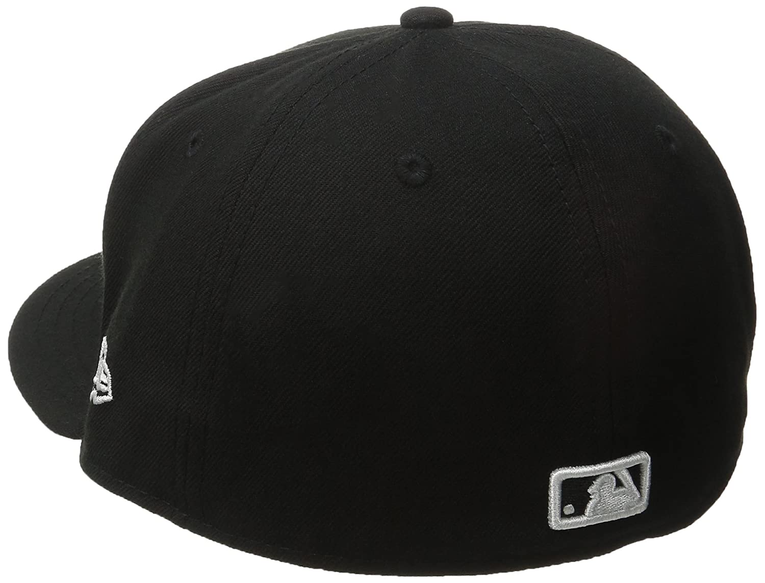 d281fae13 Amazon.com : New Era MLB Los Angeles Dodgers Black with White 59FIFTY  Fitted Cap : Clothing