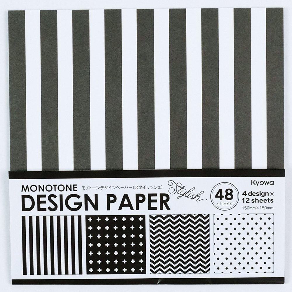 Origamipapier Design-Papier Monotone Stylish 15 cm Kyowa
