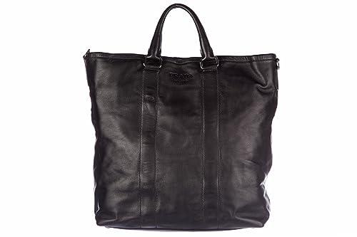 67025639f Prada bolso de mano en piel hombre tote nuevo soft negro: Amazon.es: Zapatos  y complementos