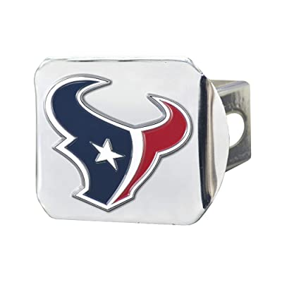 """FANMATS NFL Houston Texans Metal Hitch Cover, Chrome, 2"""" Square Type III Hitch Cover: Automotive"""