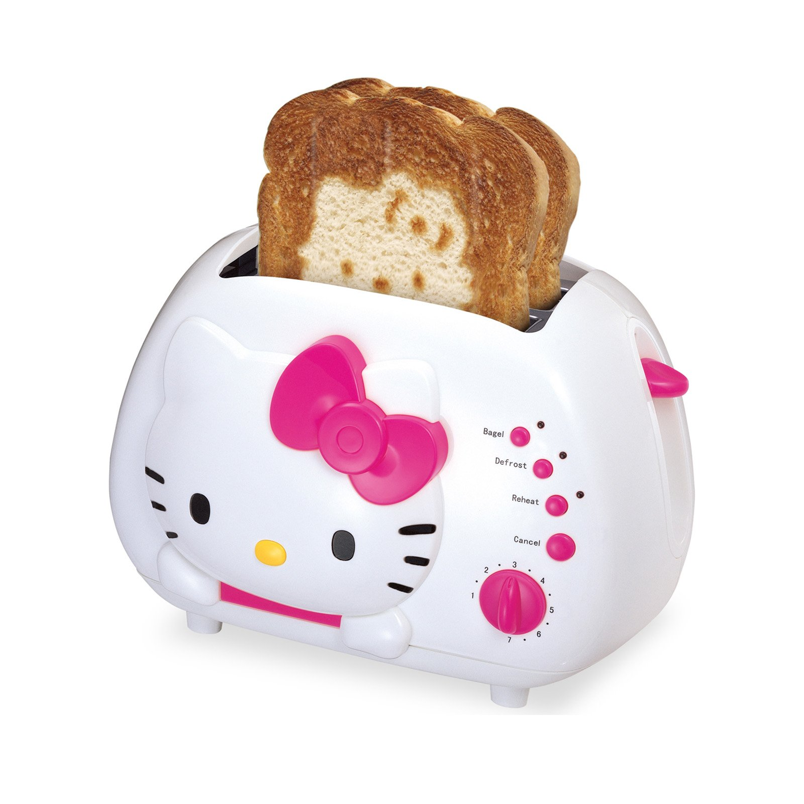 Hello Kitty 2-Slice Wide Slot Toaster with Cool Touch Exterior Consumer  electronic