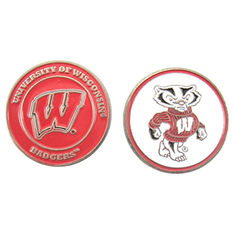 22d9fa2058b Amazon.com   Golf Ball Marker - NCAA - Wisconsin Badgers   Sports ...