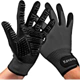 KAVAVE Pet Grooming Gloves Pet Hair Remover for Cat and Dog Pet Gloves for Hair Removal Brush for Shedding Dogs Cats Horses,