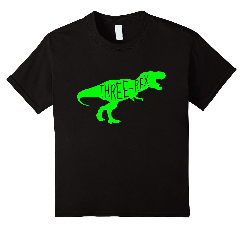 Kids Birthday Shirt Dinosaur Three-Veotee
