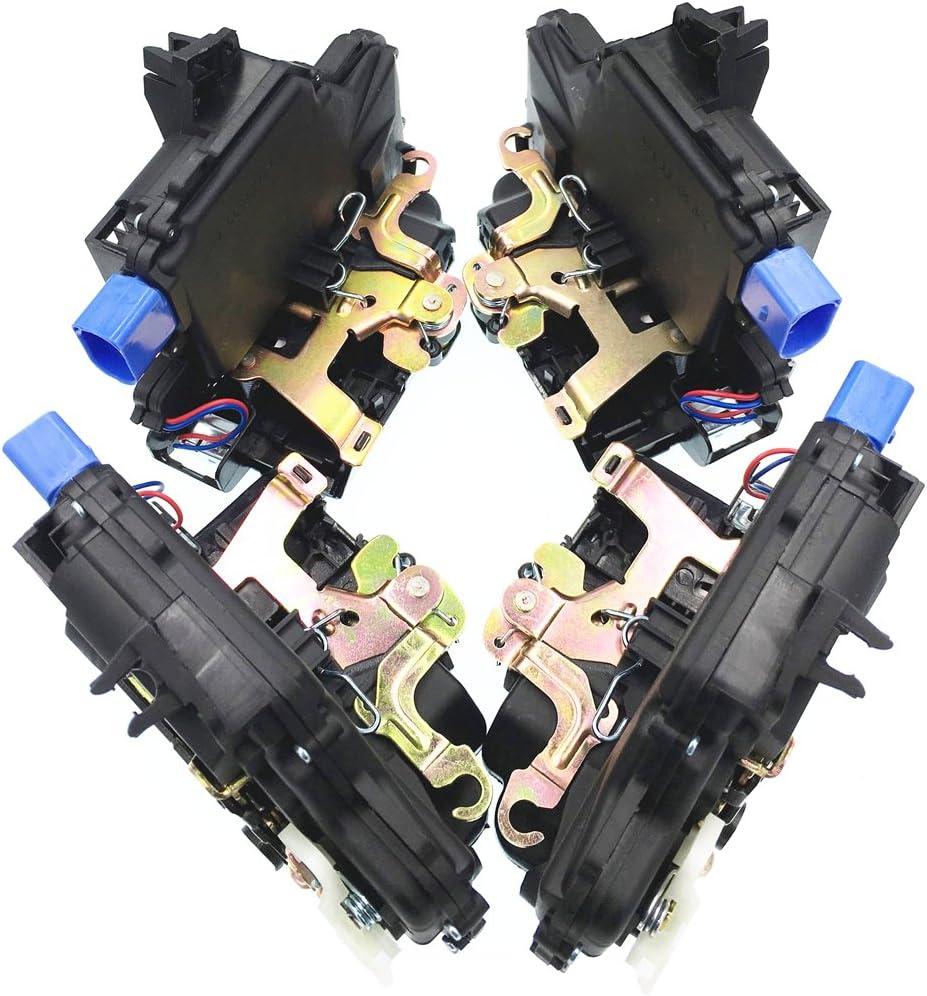 HZTWFC Actuador de cerradura de la puerta delantera izquierda derecha de 4 piezas OEM # 3B1837015AQ 3B1837016BC 3B4839016AG 3B4839015AG: Amazon.es: Coche y moto