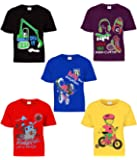 Kiddeo Boy's Cotton Half Sleeves T-Shirts - Pack of 5