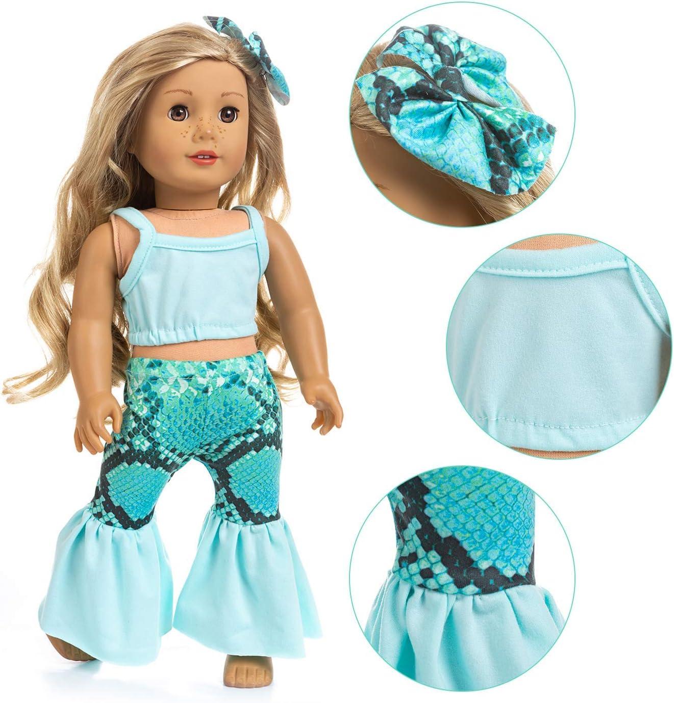 18 Inch Doll Accessories for American Doll Clothes Bikini /& Cap Sets
