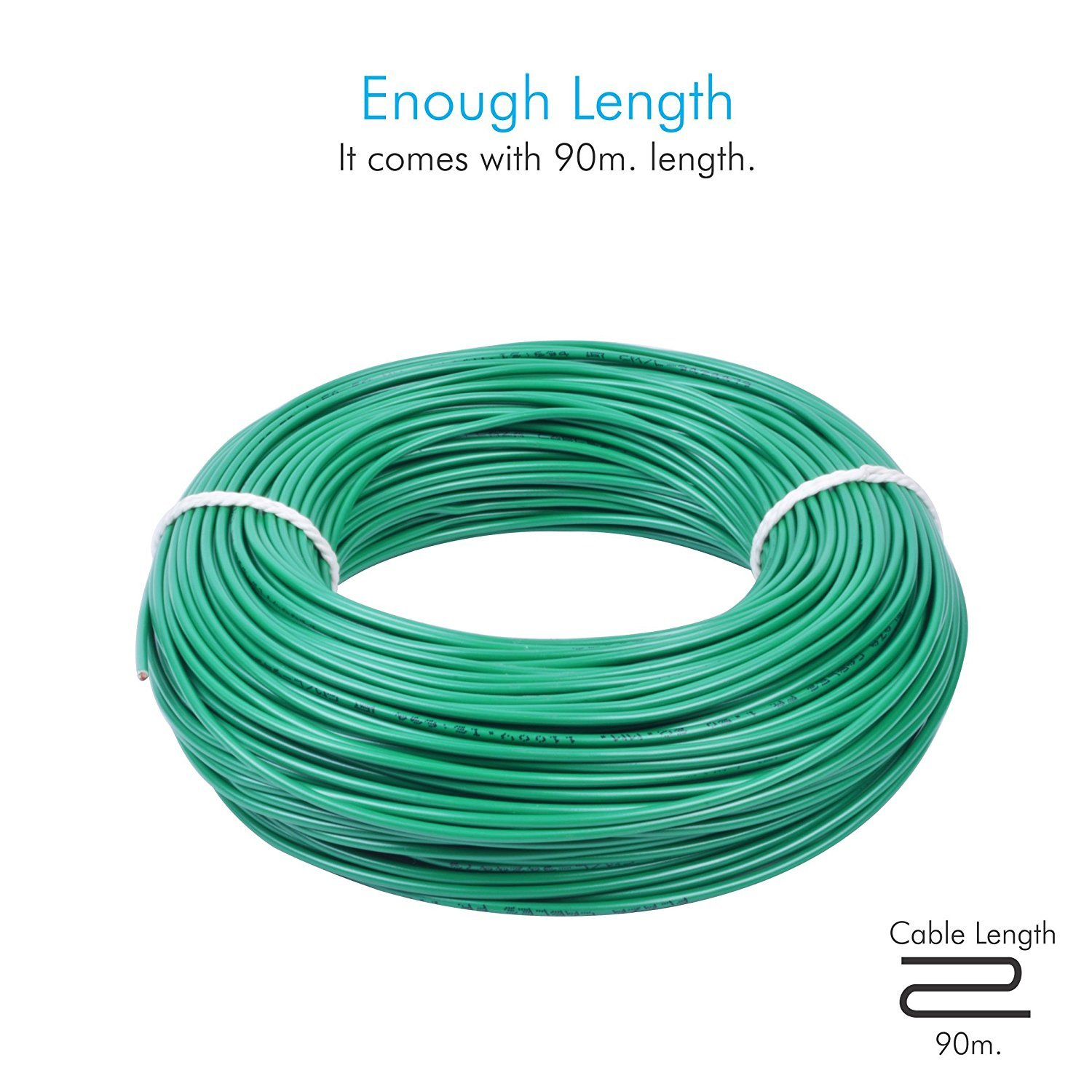 PLAZA PVC Insulated 2.5 Sq. mm Cable (Green, 90m): Amazon.in: Home ...