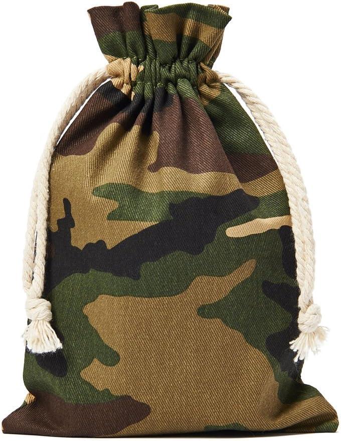 15 x 10 cm organzabeutel24 Lot de 10 Sacs en Coton avec Cordon de Serrage 100/% Coton Motif Camouflage Dimensions
