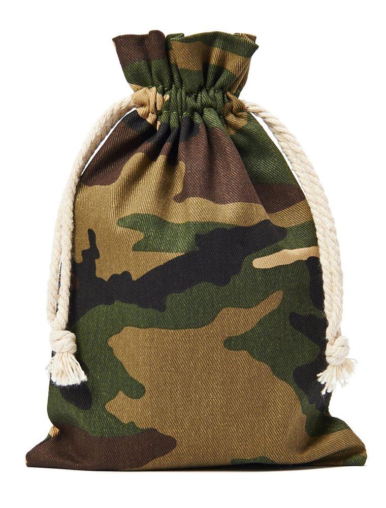 10 Stück Baumwollbeutel, Baumwollsäckchen in Camouflage Optik, Grösse: 23x15 cm (Höhe x Breite) mit Kordel zum Zuziehen,100% Baumwolle 10 Stück Baumwollbeutel organzabeutel24