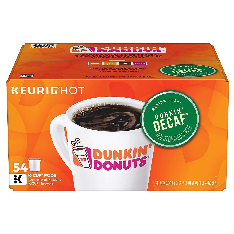 Dunkin' Donuts Original Blend Decaf K-Cup Pods, 54 ct.