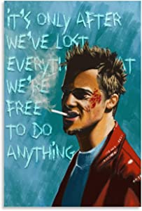 Fight Club Tyler Durden Canvas Art Poster and Wall Art Picture Print Modern Family Bedroom Decor Posters 20x30inch(50x75cm)