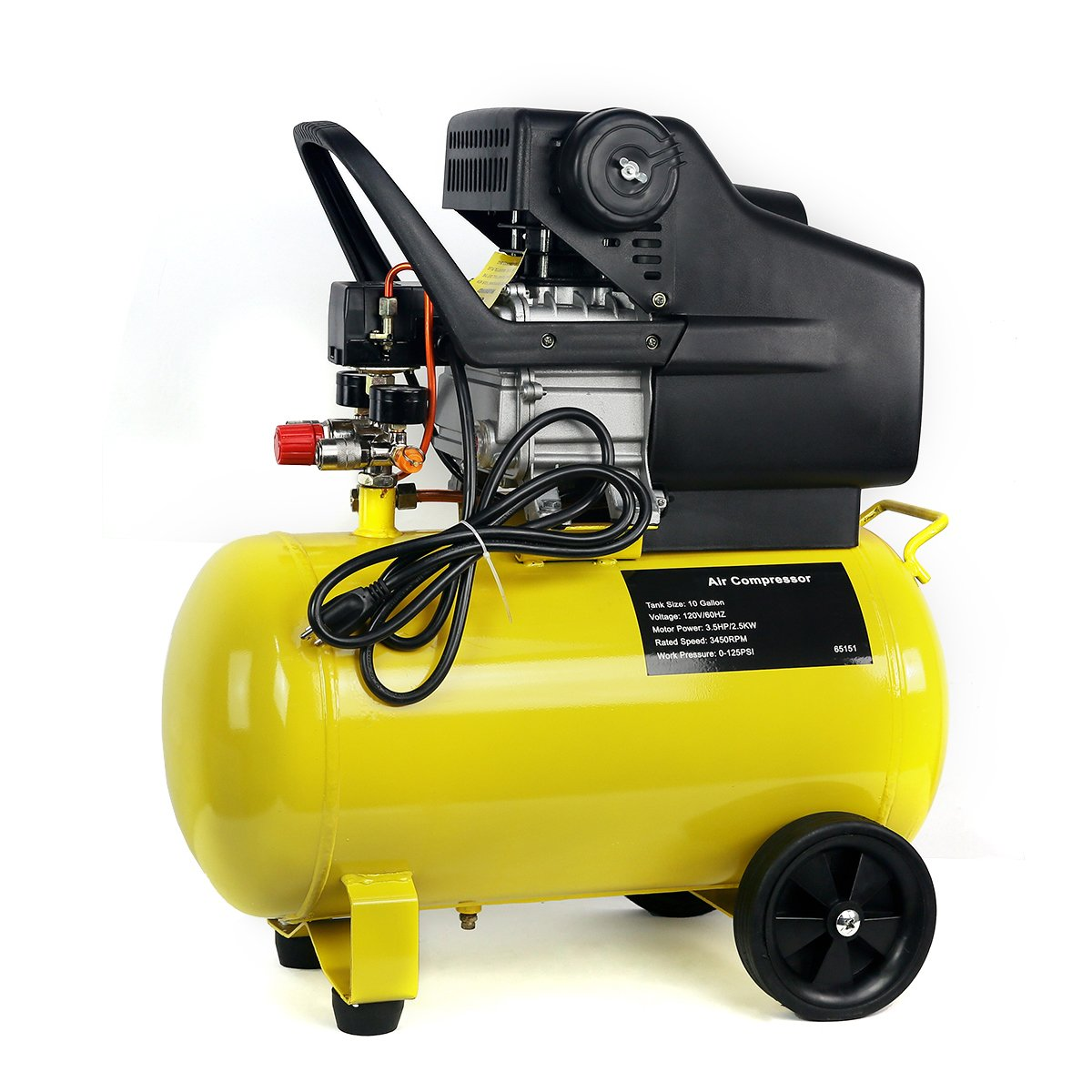 3.5HP 10-Gallon Pneumatic Portable Air Compressor With Tank XtremepowerUS 65151