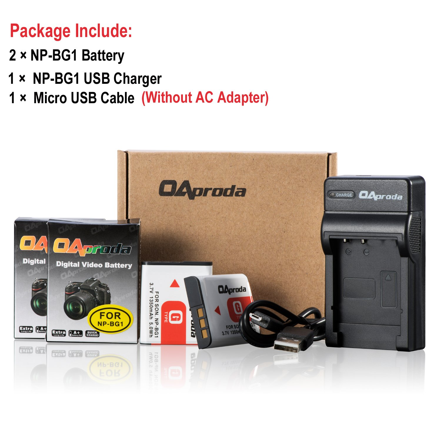 Halcyon 1200 mAH Lithium Ion Replacement Battery and Charger Kit for Sony DSC-W830 Digital Camera and Sony NP-BN1