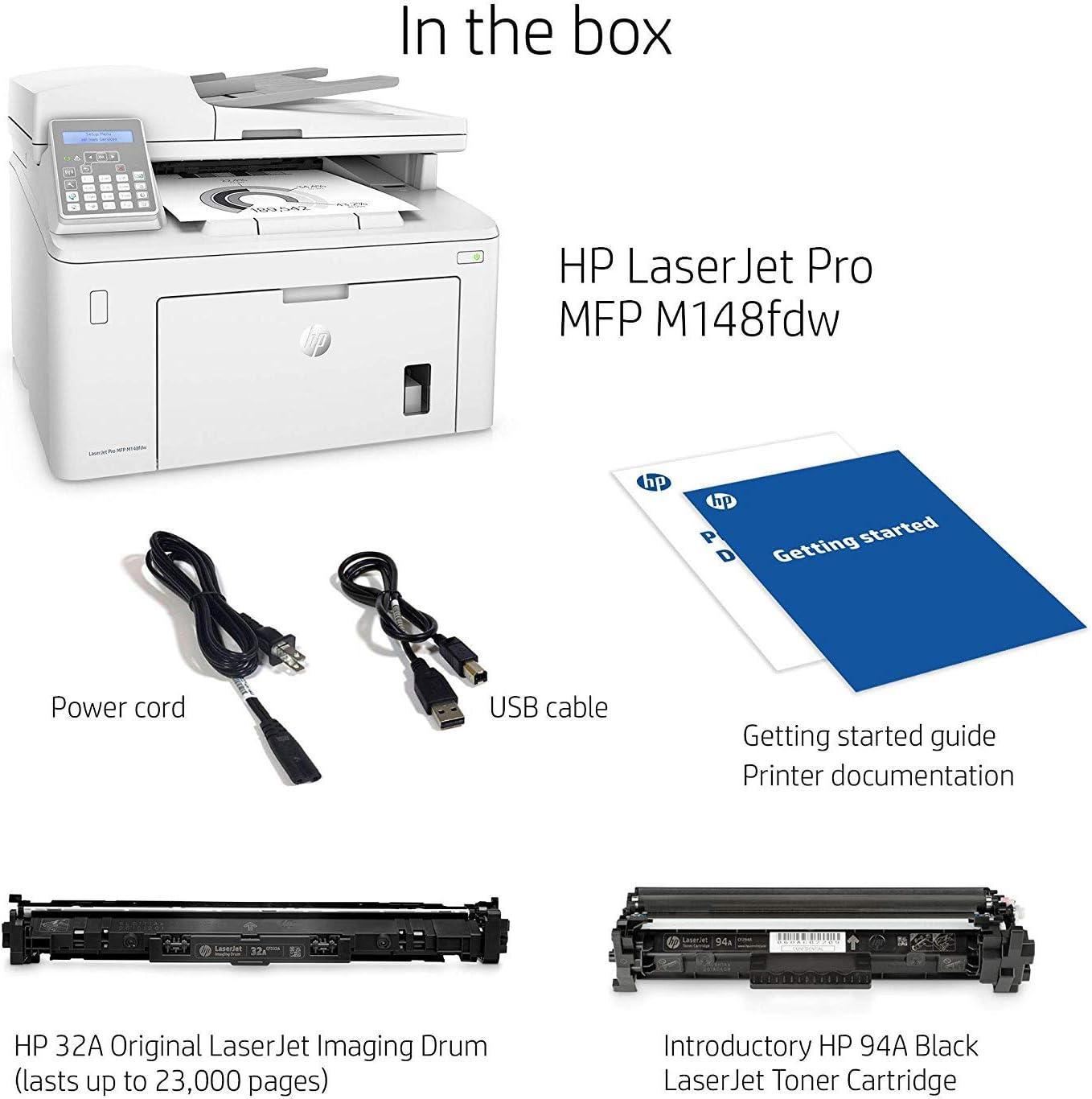 HP M148fdw LaserJet Pro - Impresora Multifunción (Laser, Wi-Fi, 28 ...