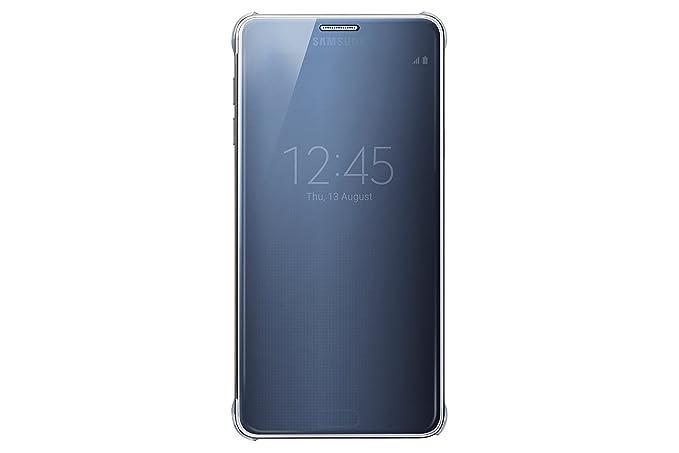best service efb6e 75598 Samsung Galaxy Note 5 Case S-View Clear Flip Cover Folio - Black Sapphire