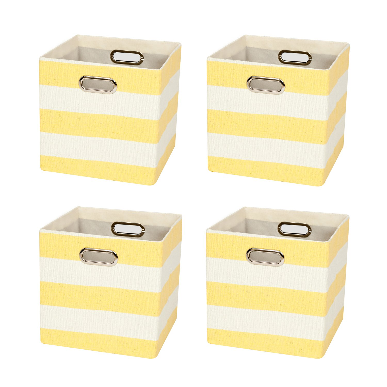 Posprica Collapsible Cube Organizers,Storage Cube Bins Boxes Basket Containers Drawers For Nurseries,Offices,Closets,Home Décor (4, Gerry Stripe) Home Décor (4 Roadi STORAGE-ROADI007