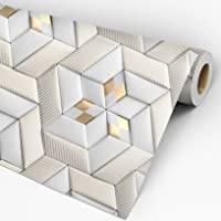 Papel de Parede 3D Adesivo Lavável Geométrico Roses