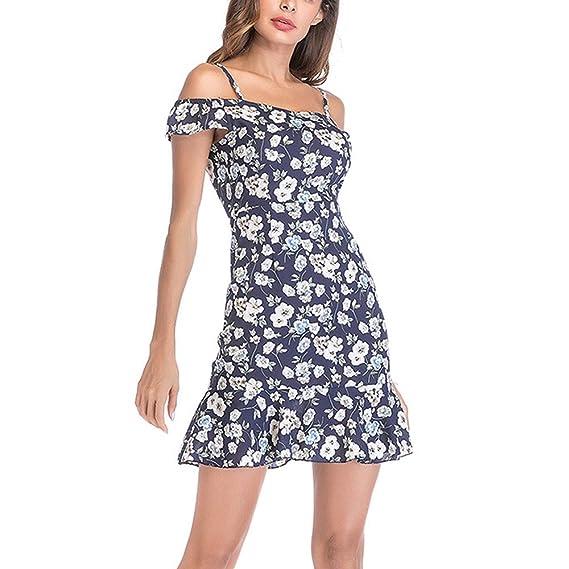 Damen Taschen Strandkleid Sommer Tops Minikleid Knöpfe Ärmellos Träger Kleider