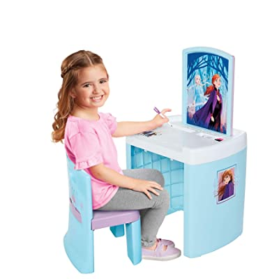 Frozen 2 Pretend N' Play Activity Table Set with One Chairs: Toys & Games