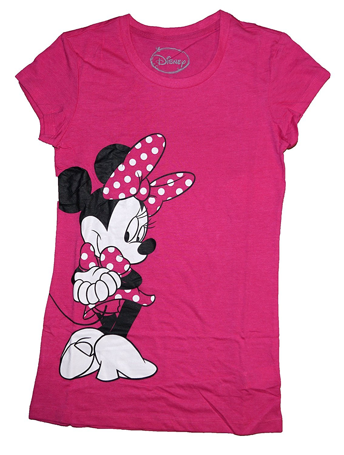 Disney Classic Minnie Mouse Womens Pajama T Shirt Top - Pink