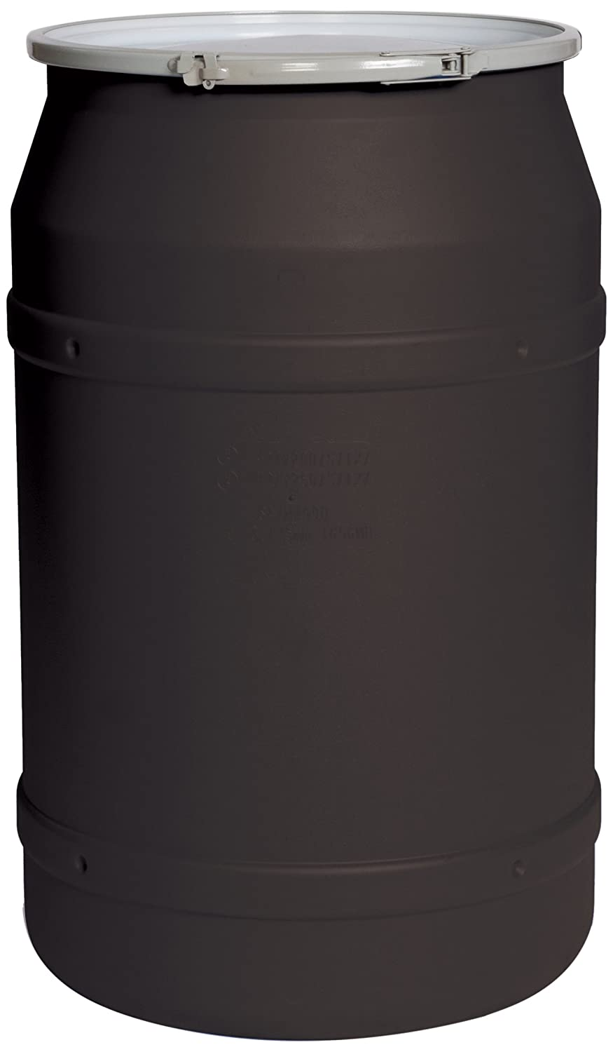 Eagle 1656MBLK Black Drum with Metal Lever Lock Ring, 55 gal Capacity