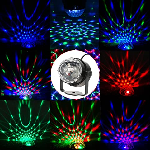 Portable Party Light Sound Activated Disco Light Ball Stage Light - Bedroom disco lights