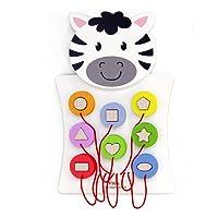 Viga Toys–50681–Wall Game–Match Forme–Zebra