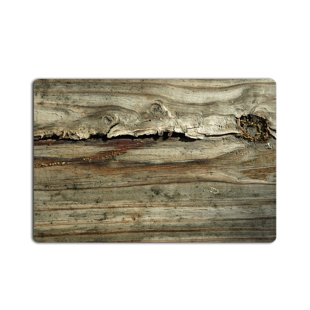 Crystal Emotion Rustic Old Barn Wood Home Decor Door Bath Mat Entrance Doormat Dirt Buster