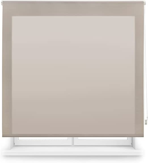 Blindecor Ara Store Enrouleur Transparent Uni 140 X 250 cm Blanc Ivoire