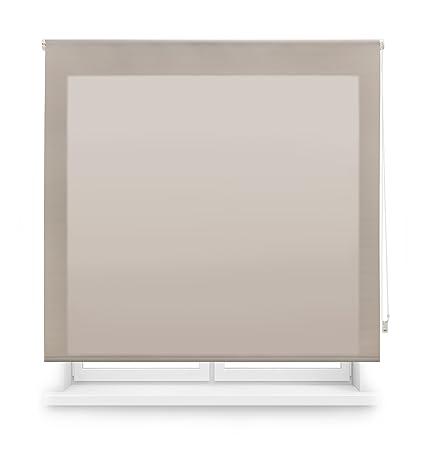 Blindecor Ara - Estor enrollable translúcido liso, 120 x 175 cm, color marfil