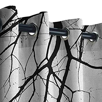 Amazon.com : Black and White Outdoor Curtains Madrid City at Nighttime in Spain Main Street Ancient Architecture Great for Living Rooms & Bedrooms 84