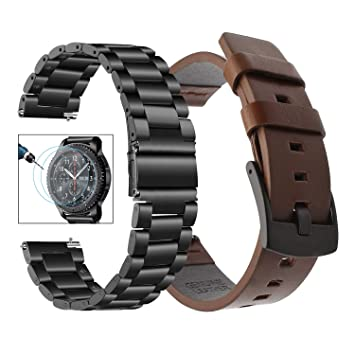 Bande de montre Galaxy Watch 46mm + protecteur décran, TRUMiRR 22mm Bracelet de montre en ...