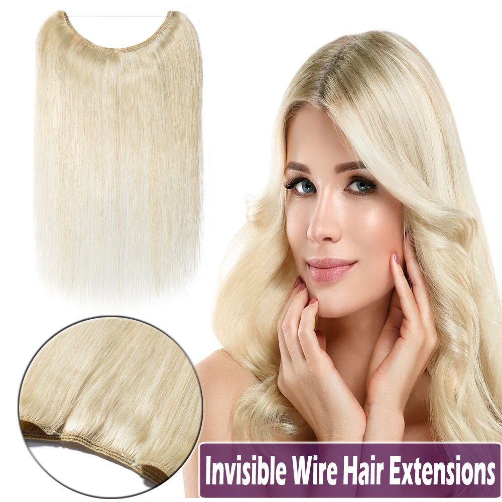 Amazon 16 Inch Human Hair Hidden Wire Extensions Highlight