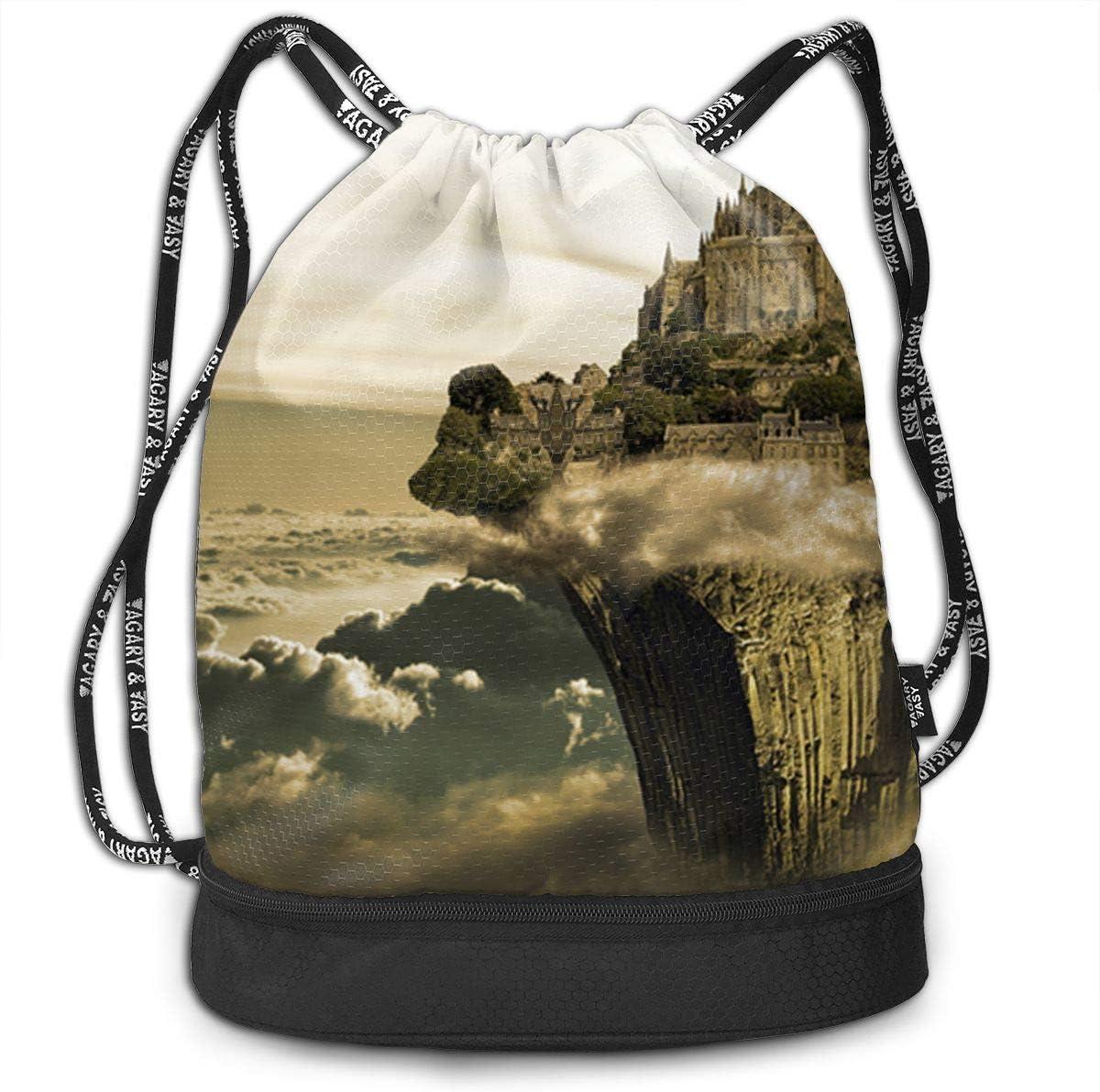 HUOPR5Q Camouflage Drawstring Backpack Sport Gym Sack Shoulder Bulk Bag Dance Bag for School Travel