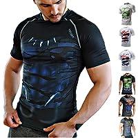 Khroom Camiseta de Compresión de Superhéroe para Hombre