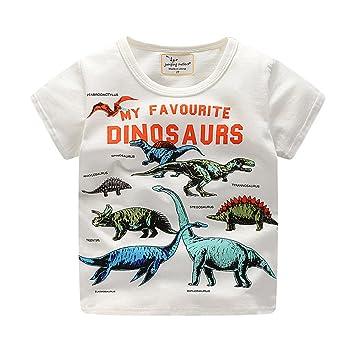 412ed3138b143 (プタス)Putars ベビー服 子供服 Tシャツ 男の子 半袖 恐竜柄 夏 可愛い パーティー