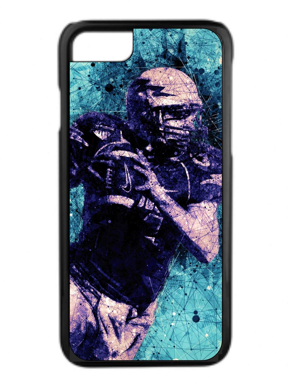 Football Player Design Black Plastic Phone Case That Is Compatible with the Apple iPhone 4 / 4s