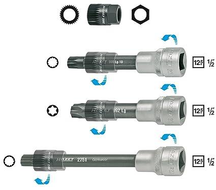 HAZET 4641/4 Internal Serration Torx Profile XZN V-Ribbed