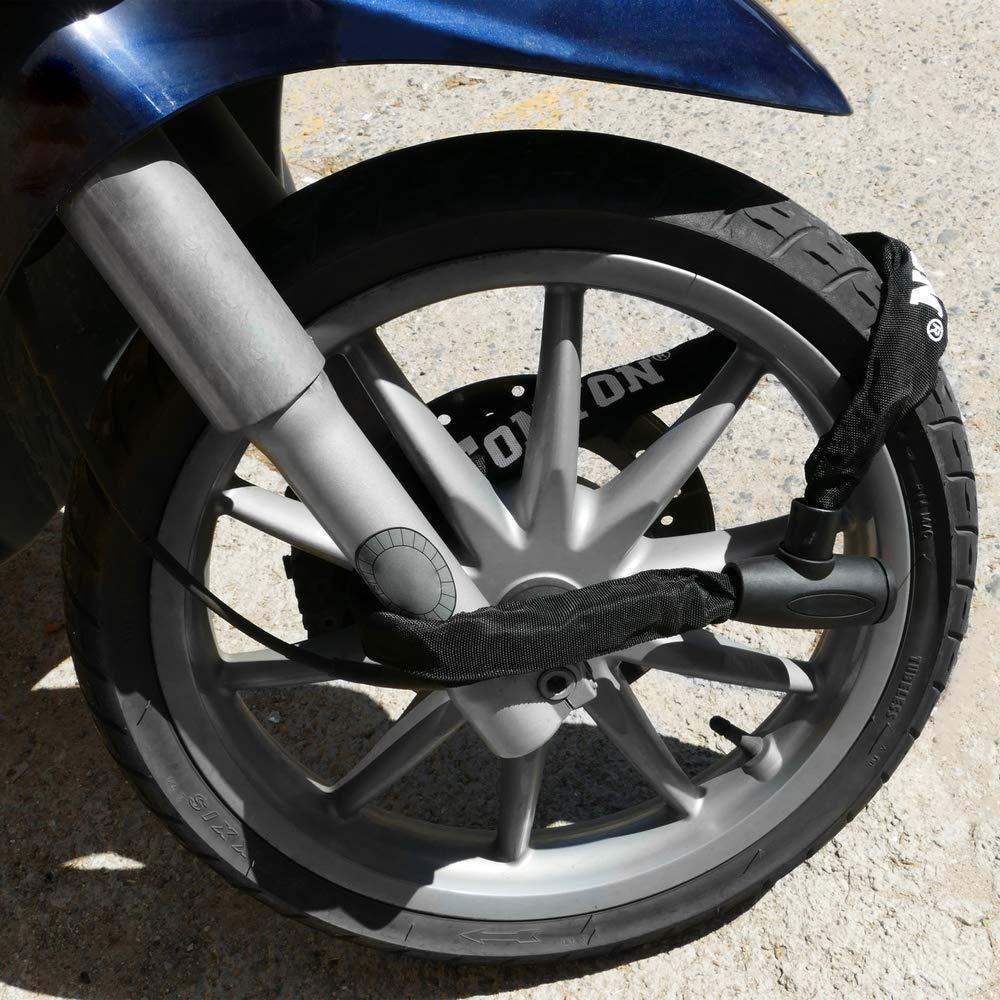 Cadena antirrobo de Acero con candado para Bicicleta de 19x900 mm con Llave de Seguridad PrimeMatik