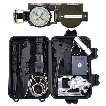 Amazon.com: Tianers Kit de equipo de supervivencia ...