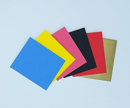 Mini-Briefumschl/äge 120 St/ück mit wei/ßen Blanko-Visitenkarten