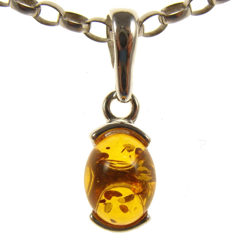 sin cadena Colgante de plata de ley 925 con ambar del Baltico joyeria