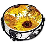 "Art Plates ""Van Gogh Sunflowers"" Ceramic Drink Coaster Set"