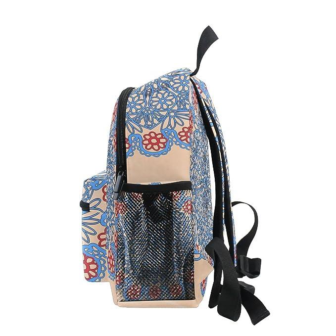 Amazon.com   LORVIES Vintage Rose Mini Kids Backpack Pre-School Kindergarten  Toddler Bag   Kids  Backpacks 4e1ddacbcd