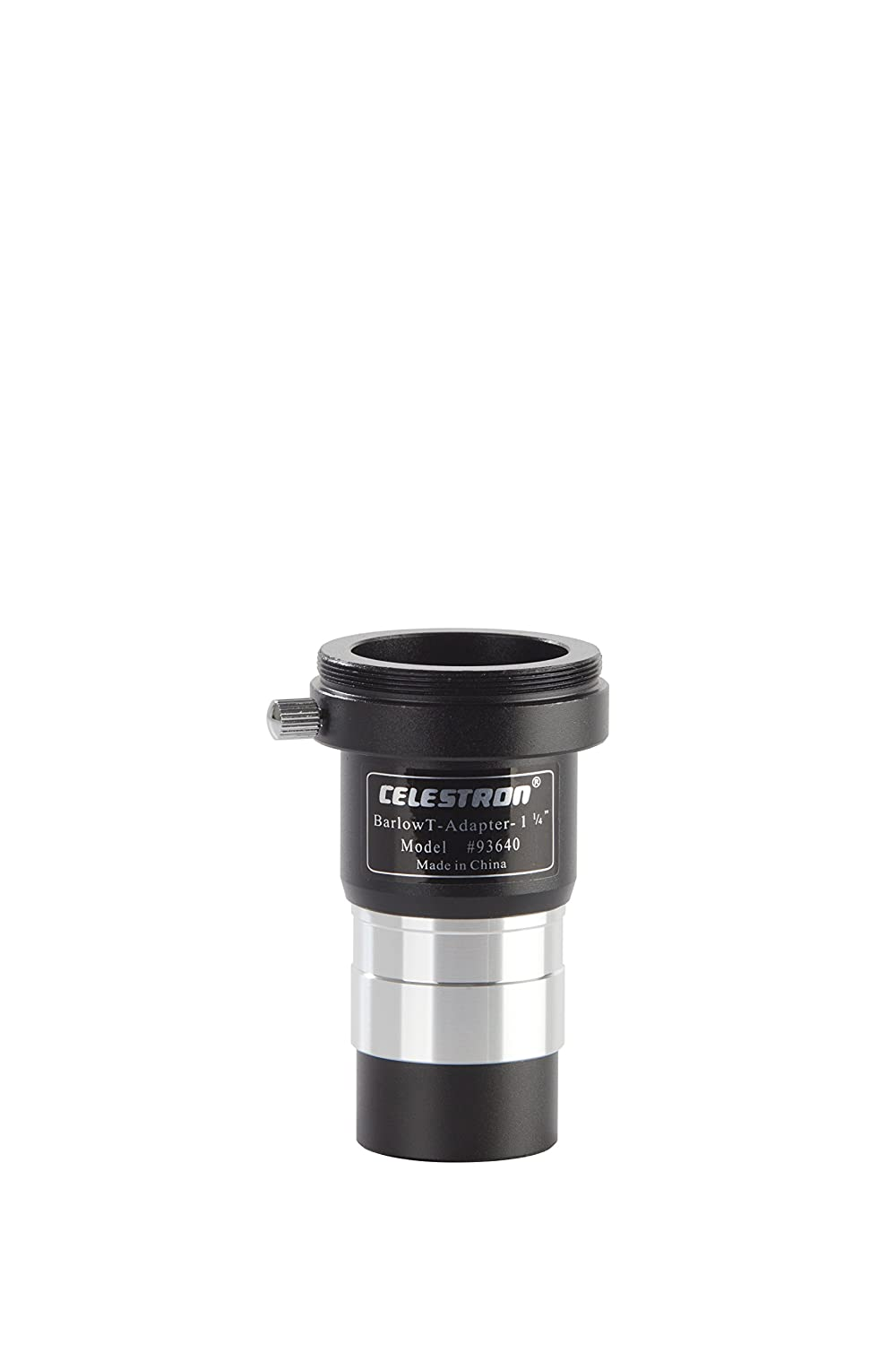 Celestron 93640 T-Adapter/Barlow Lens Universal-1.25' Telescope and Microscope (3-In-1) Accessories, Black 93640-CGL