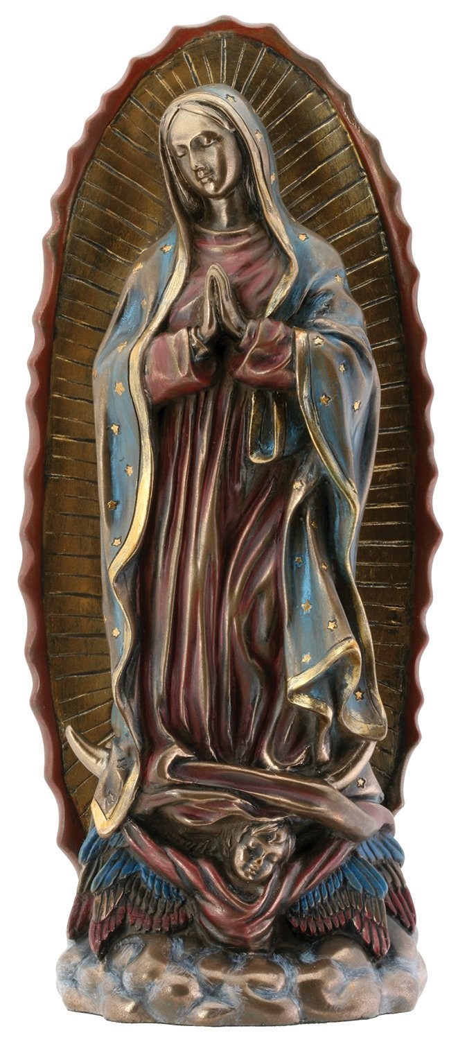 Our Lady of Guadalupe Virgin Mary Resin Statue, Bronze Color StealStreet (Home) SS-Y-7675